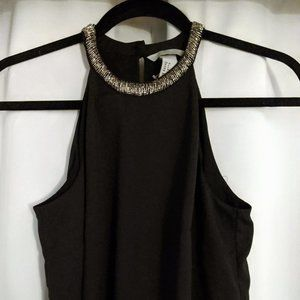 H&M Beaded Sleeveless Shift Cocktail Dress Size 6